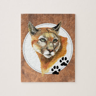 Puma, Mountain Lion, Cougar, Nature Collection Jigsaw Puzzle
