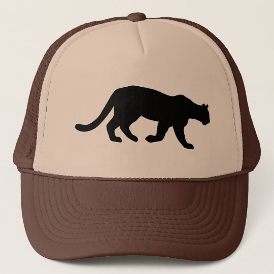 a238454260f ... wholesale puma mountain lion cougar silhouette trucker hat 0c2c5 f789a