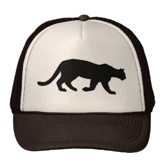 Puma Mountain Lion Cougar Silhouette Trucker Hat