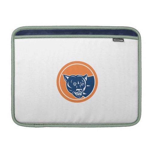Puma Mountain Lion Head Prowl Circle Retro MacBook Air Sleeve