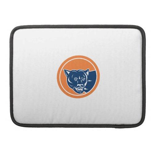 Puma Mountain Lion Head Prowl Circle Retro Sleeve For MacBook Pro