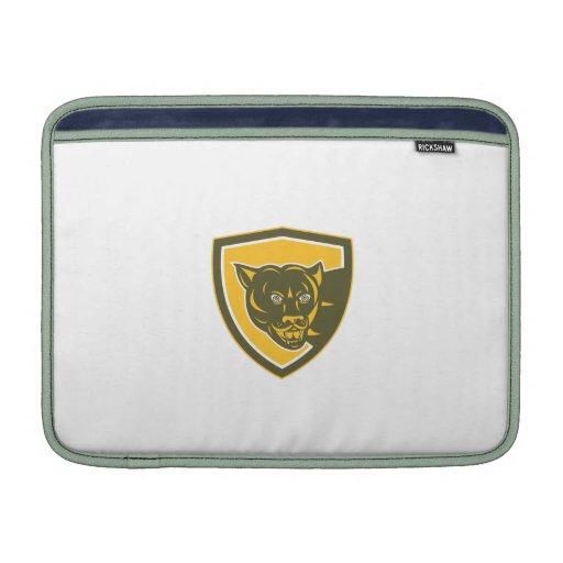 Puma Mountain Lion Head Prowl Shield Retro Sleeve For MacBook Air