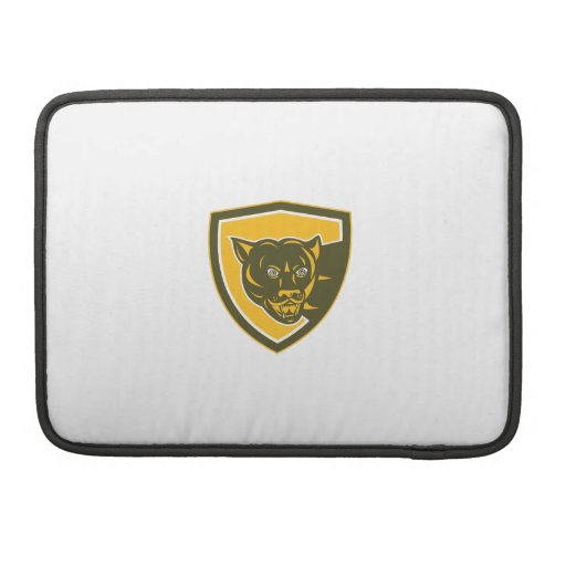 Puma Mountain Lion Head Prowl Shield Retro MacBook Pro Sleeve