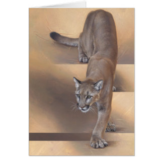 Puma Notecard de Andrew Denman Tarjeta Pequeña