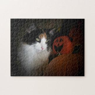 Puma over pumpkin jigsaw puzzle
