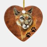 Puma, puma, ornamento del navidad del león de ornamentos de reyes magos