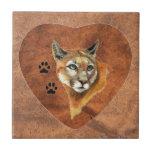 Puma, puma, pistas animales del león de montaña, n tejas