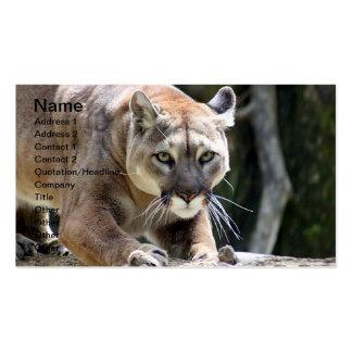 Puma salvaje tarjetas de visita