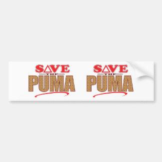 Puma Save Bumper Sticker