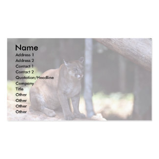 Puma suramericano tarjeta personal