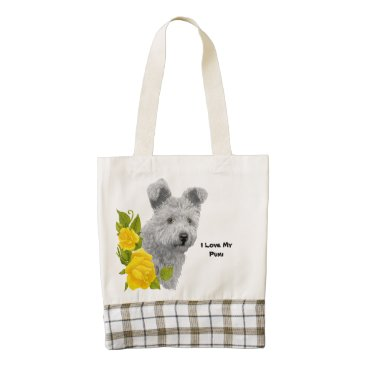 Herdinghaven3 Pumi and Yellow Roses Zazzle HEART Tote Bag