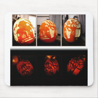 Pumkin House Day and Night Mouse Pad