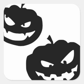 Pumkin silhouettes square sticker