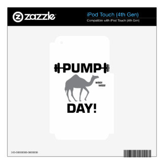 Pump Day iPod Touch 4G Decal