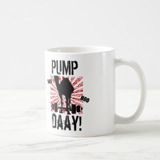 Pump Day Weightlifting Camel Mug