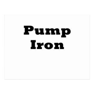 Pump Iron Post Card