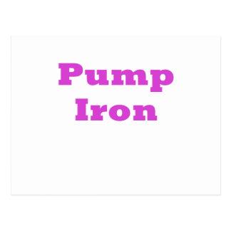 Pump Iron Postcard