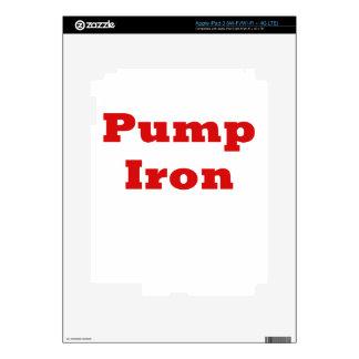 Pump Iron Decal For iPad 3