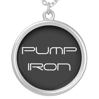 Pump Iron Weightlifting Necklace