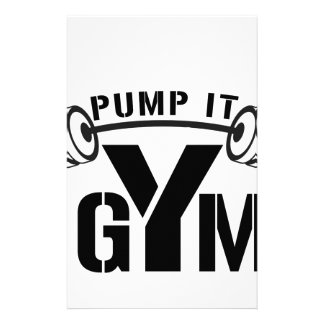 pump it gym stationery