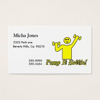 Pump It Hottie Business Card