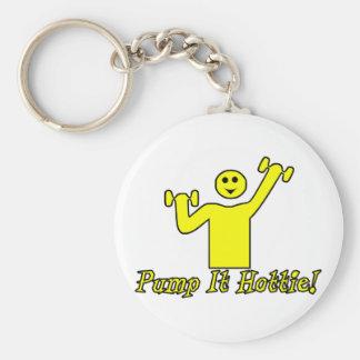 Pump It Hottie Keychain