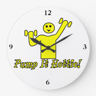 Pump It Hottie Large Clock