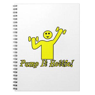 Pump It Hottie Notebook