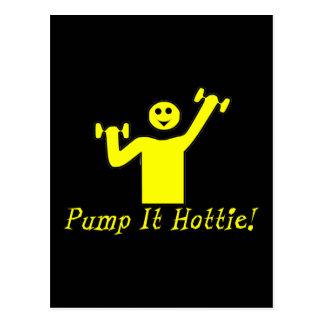 Pump It Hottie Postcard
