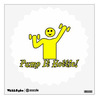 Pump It Hottie Wall Sticker