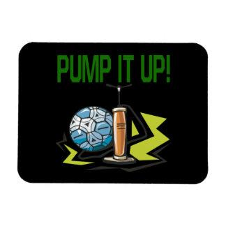 Pump It Up Rectangular Photo Magnet