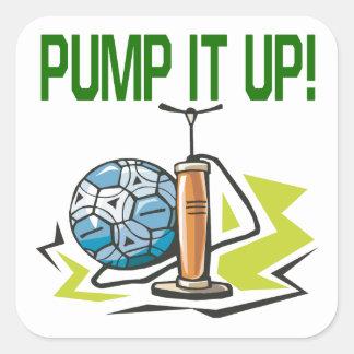 Pump It Up Square Sticker