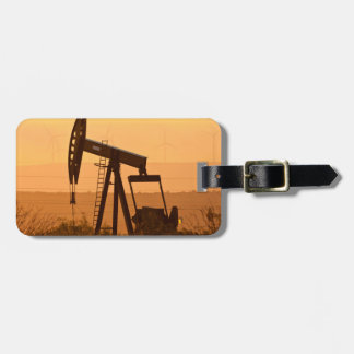 Pump Jack Pumping Oil In West Texas, USA Bag Tag