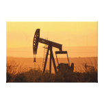 Pump Jack Pumping Oil In West Texas, USA Canvas Print