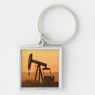 Pump Jack Pumping Oil In West Texas, USA Keychain