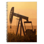 Pump Jack Pumping Oil In West Texas, USA Notebook