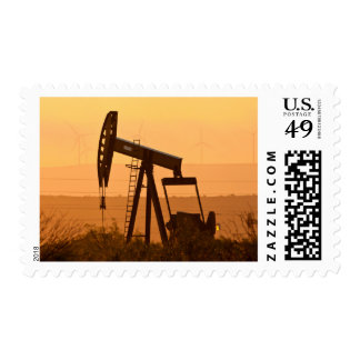 Pump Jack Pumping Oil In West Texas, USA Postage Stamp