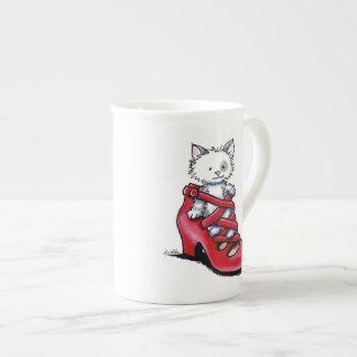 Pump Kitty Tilly Bone China Mug