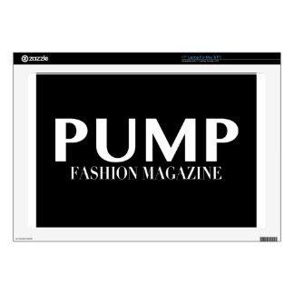 "PUMP Magazine Logo Products 17"" Laptop Skin"