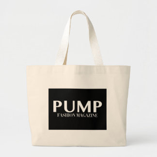 PUMP Magazine Logo Products Large Tote Bag