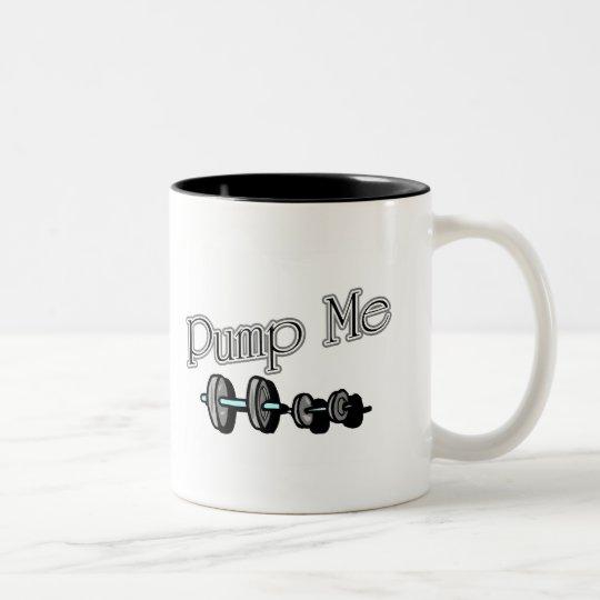 Pump Me Two-Tone Coffee Mug