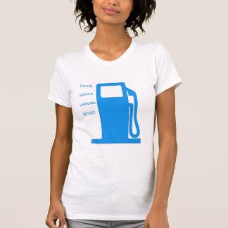 Pump Space Leases Now!- Fuel pump (blue) women's T-Shirt