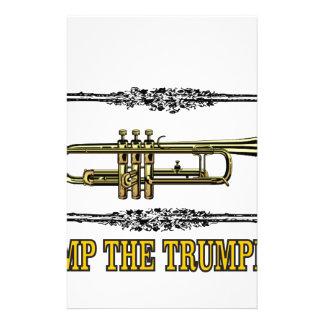 pump the trumpet art stationery