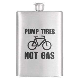 Pump Tires Hip Flask
