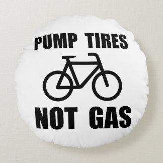 Pump Tires Round Pillow