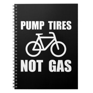 Pump Tires Spiral Note Books