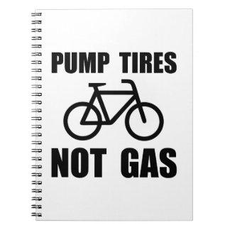 Pump Tires Spiral Notebook