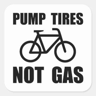 Pump Tires Square Sticker