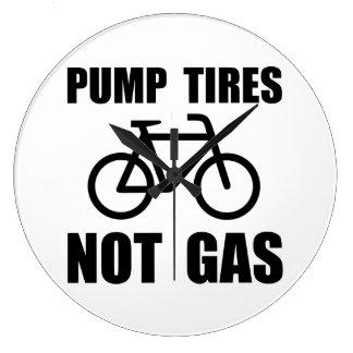 Pump Tires Wall Clock
