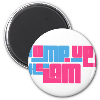 pump up jam-blue.png 2 inch round magnet